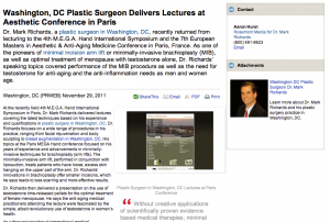 plastic, surgeon, surgery, lectures, arm, lift, washington, dc